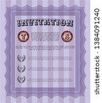 violet formal invitation... | Shutterstock .eps vector #1384091240