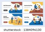 education horizontal banners... | Shutterstock .eps vector #1384096130
