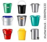 Nine Isolated Realistic Bucket...