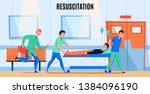ambulance paramedics crew... | Shutterstock .eps vector #1384096190