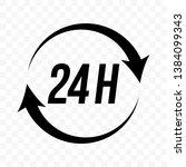 24 hours round clock arrow... | Shutterstock .eps vector #1384099343