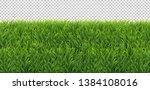 green grass frame transparent... | Shutterstock .eps vector #1384108016