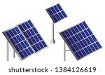 solar isometric panels set....   Shutterstock .eps vector #1384126619