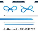 shoe laces brush set isolated... | Shutterstock .eps vector #1384134269