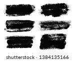 brush strokes. vector... | Shutterstock .eps vector #1384135166
