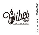 Vibes Coffee House Logo Vector...
