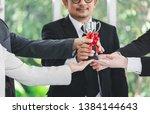 winner business team concept ... | Shutterstock . vector #1384144643