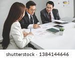 successful business man and... | Shutterstock . vector #1384144646