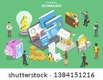 isometric flat vector concept... | Shutterstock .eps vector #1384151216
