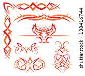 vector set of gothic patterns...   Shutterstock .eps vector #138416744