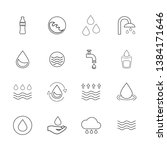 water icons set isolated on... | Shutterstock .eps vector #1384171646