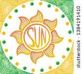 sun. beautiful nature... | Shutterstock .eps vector #1384191410