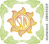 sun. beautiful nature... | Shutterstock .eps vector #1384192319