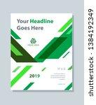 annual report brochure flyer... | Shutterstock .eps vector #1384192349