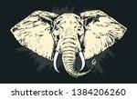 african elephant. hand drawn... | Shutterstock .eps vector #1384206260