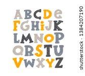 english alphabet. abc capital...   Shutterstock .eps vector #1384207190