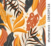 abstract background in warm... | Shutterstock .eps vector #1384209116