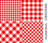 vector checkered seamless... | Shutterstock .eps vector #1384235486