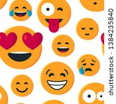 seamless pattern with funny... | Shutterstock .eps vector #1384235840