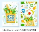 eco friendly brochure templates.... | Shutterstock .eps vector #1384249913