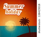 summer background with palm... | Shutterstock .eps vector #138425018