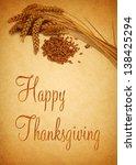thanksgiving greetings ... | Shutterstock . vector #138425294
