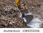 Working Excavator Bucket....