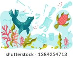 poster or banner with seal or... | Shutterstock .eps vector #1384254713