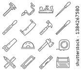 carpentry industry equipment... | Shutterstock .eps vector #1384267580