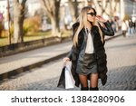 stylish and luxurious girl... | Shutterstock . vector #1384280906