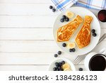 tie shaped pancakes with... | Shutterstock . vector #1384286123