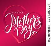 happy mother's day  ...   Shutterstock .eps vector #1384287329