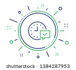 time line icon. select alarm... | Shutterstock .eps vector #1384287953