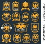 heraldic golden eagle icons ...   Shutterstock .eps vector #1384292360