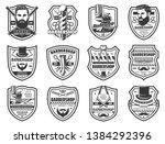 barbershop mustache and beard...   Shutterstock .eps vector #1384292396