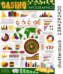 casino poker and gamble games... | Shutterstock .eps vector #1384292420