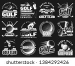golf sport club and... | Shutterstock .eps vector #1384292426