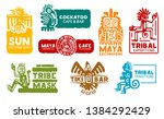 maya and aztec business... | Shutterstock .eps vector #1384292429