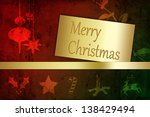 a modern and abstract christmas ...   Shutterstock . vector #138429494