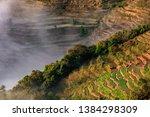 samaba rice terrace fields in... | Shutterstock . vector #1384298309