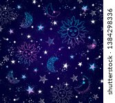 space galaxy constellation...   Shutterstock .eps vector #1384298336