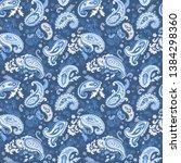 indian rug tribal ornament... | Shutterstock .eps vector #1384298360
