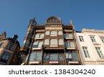 brussels  belgium. april 2019.... | Shutterstock . vector #1384304240