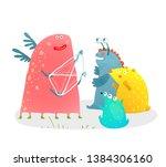 storyteller or education with... | Shutterstock .eps vector #1384306160