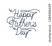 happy father day label isolated ... | Shutterstock .eps vector #1384306439