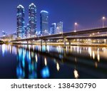 Haeundae district of Busan, South Korea citysape - stock photo