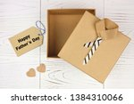 happy fathers day card and... | Shutterstock . vector #1384310066
