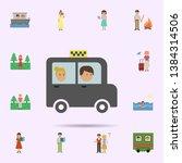 taxi  man. woman cartoon icon.... | Shutterstock .eps vector #1384314506