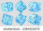set of six realistic... | Shutterstock .eps vector #1384315673