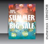 summer offer template beach... | Shutterstock .eps vector #138432938